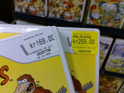 GameStop - Simpsons - The Game (Wii)