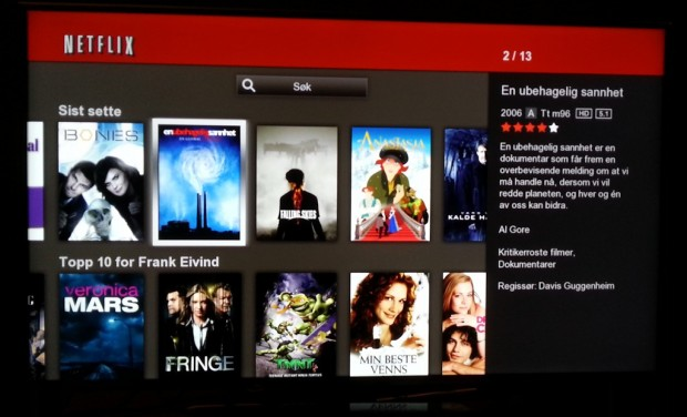 Oppdatere netflix på smart tv
