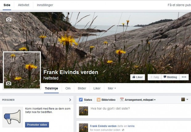 Facebook blogg fanpage