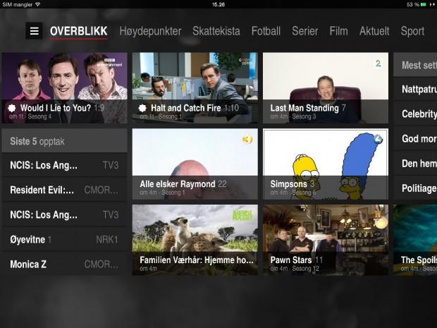 RiksTV iPad-app