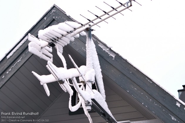 Snø på TV-antenna
