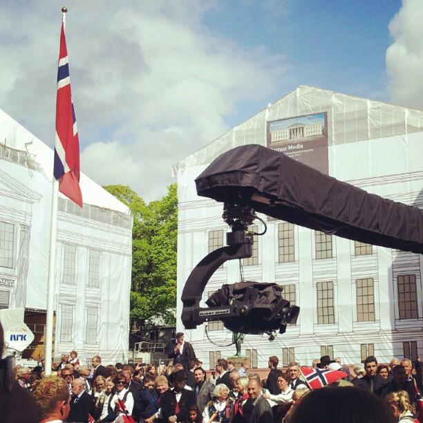 Instagram: #NRK i sving på Universitetsplassen