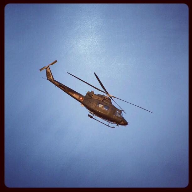 Instagram: #helicopter #helikopter #chopper #blue #sky #blå #himmel #nikon #d5100