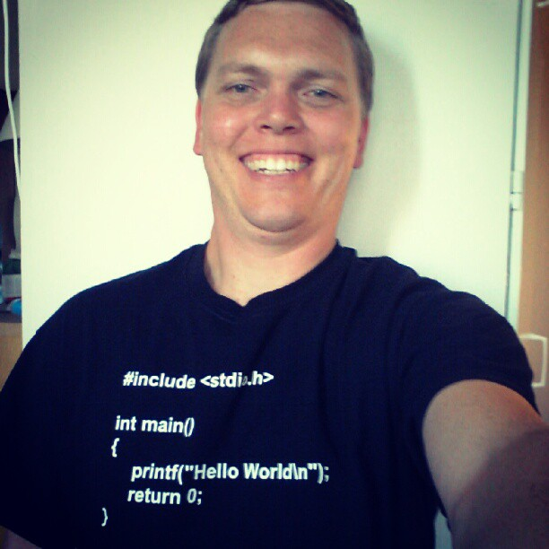 "Instagram: My new ""Hello World"" t-shirt"