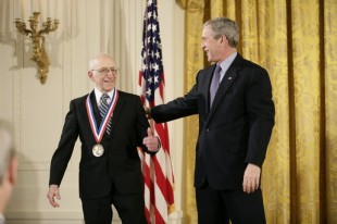 Ralph Baer received the 'National Medal of Technology' from George W. Bush.