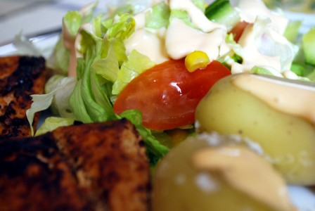 food_chicken_salad_potato
