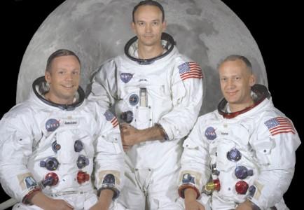 Besetningen på Apollo 11 - Neil Alden Armstrong, Michael Collins og Edwin Eugene 'Buzz' Aldrin, Jr