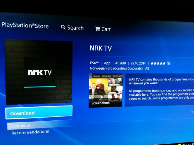 NRK TV - Playstation Store