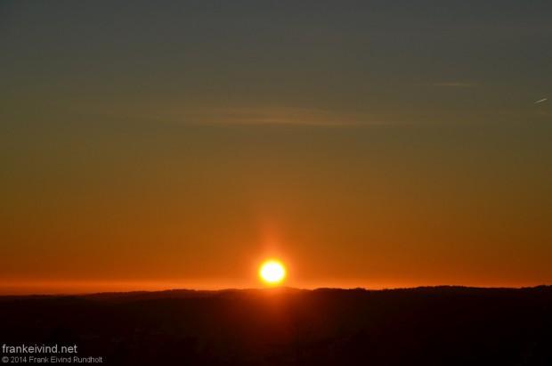 Årets siste solnedgang 2014