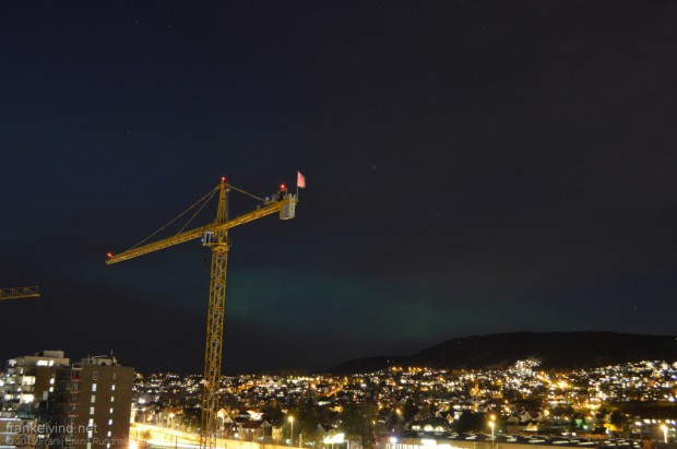 Nordlys over Oslo