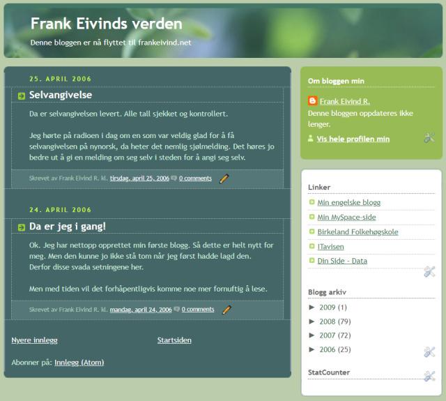 Frank Eivind verden 15 år